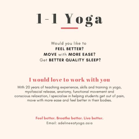 Private 1-1 Yoga and Yoga Rehab